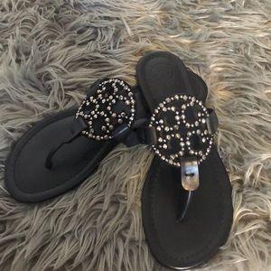 Tory Burch black Miller sandal size 7.5